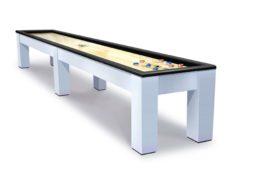 Madison Brushed Aluminum Shuffleboard Table